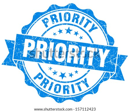 Priority Grunge Stamp - stock photo