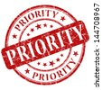 priority stamp - stock photo