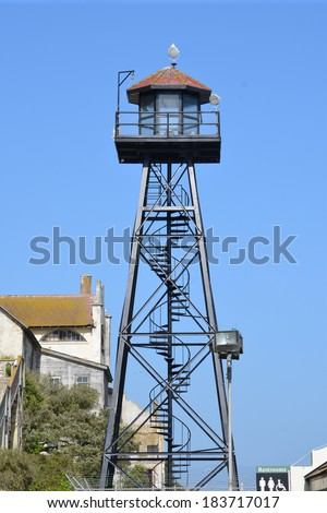 Prison guard tower - stock photo