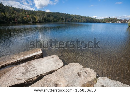 Pristine water at Minnewaska State Park in Ulster County, NY. - stock photo