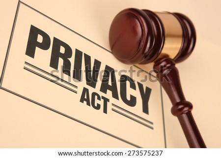 Privacy Act - stock photo