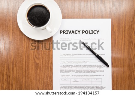 privacy policy - stock photo