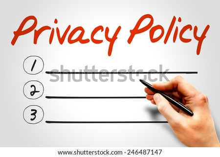 Privacy Policy blank list, business concept - stock photo