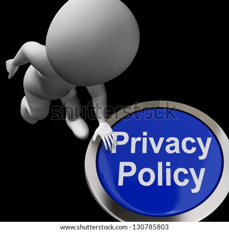 Privacy Policy Button Showing The Company Data Protection Terms - stock photo
