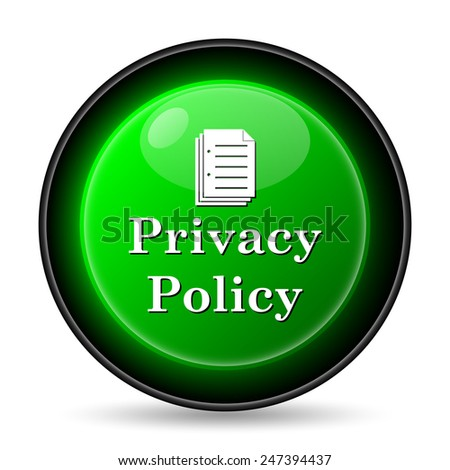 Privacy policy icon. Internet button on white background.
