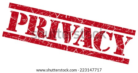 privacy red grunge stamp isolated on white - stock photo