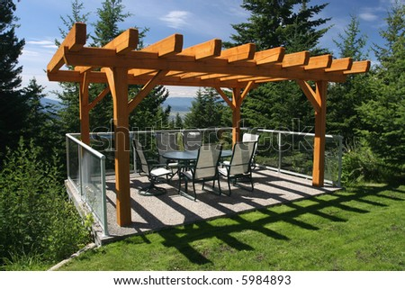 Private Dining Terrace - stock photo