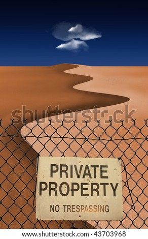 Private Property - stock photo