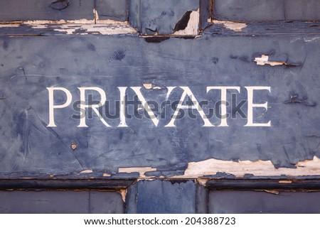 Private sign - stock photo