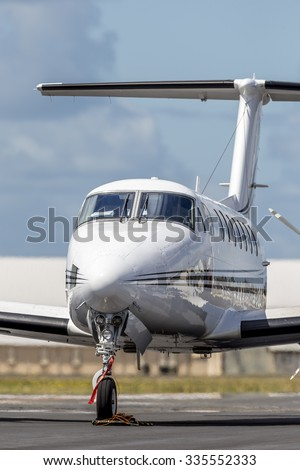 Private Turboprop Aircraft - stock photo