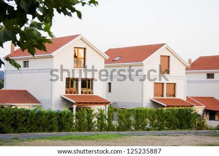 private villas - stock photo