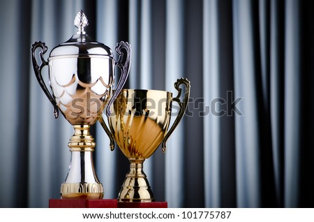 Prize cup against the background - stock photo