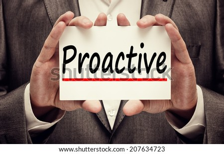 Proactive word. Business concept - stock photo