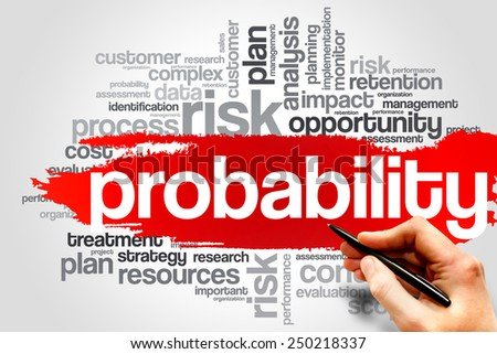 Probability word cloud, business concept - stock photo