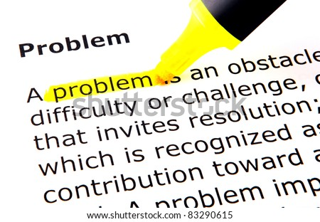 Problem - stock photo