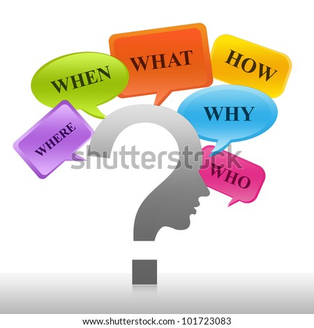 Problem Solving Concept - Question Mark With Many Question - stock photo