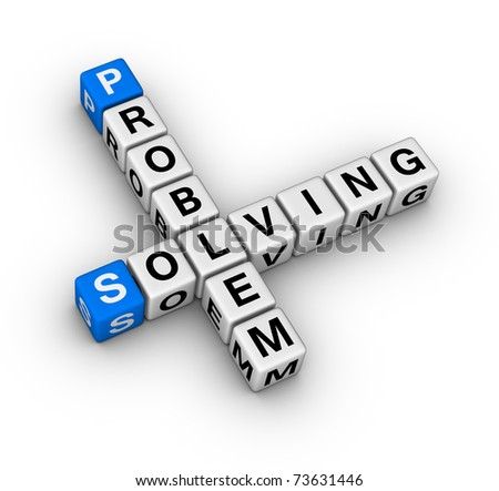 problem solving crossword - stock photo