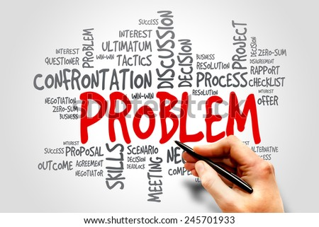Problem word cloud, business concept - stock photo