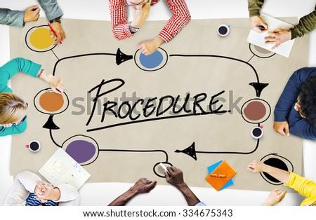 Procedure Method Strategy Process Step Concept - stock photo