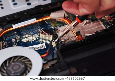 procesor, CPU, paste, computer, notebook repair - stock photo