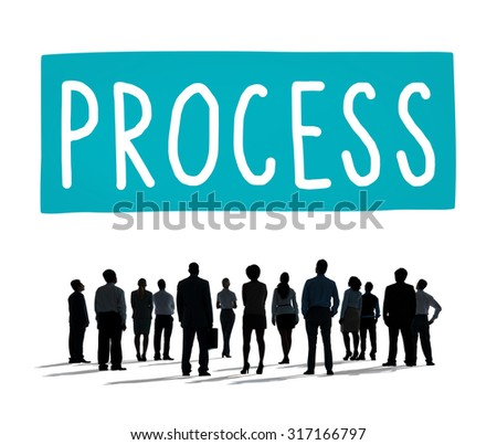 Process Determination Evaluate Improvement Steps Concept - stock photo