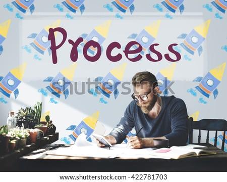 Process Method Organization Procedure Concept - stock photo