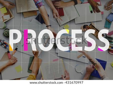 Process Method Strategy Operation Procedure Concept - stock photo