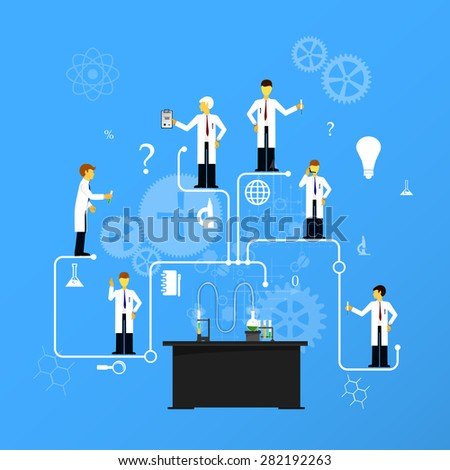 Process Research in a chemical laboratory. The concept of science, medicine and research. - stock photo