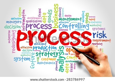 Process word tag cloud, business concept - stock photo
