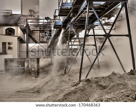 processing of sugar beet - stock photo
