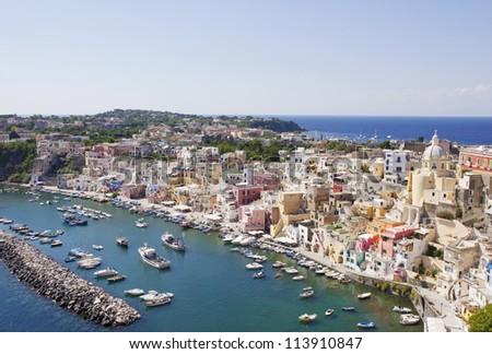 Procida island, Italy - stock photo