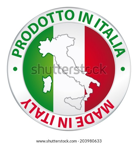 Prodotto in Italia. Made in Italy. Label product.  - stock photo