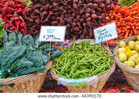 produce at market - stock photo