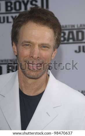 Producer JERRY BRUCKHEIMER & wife at the world premiere, in Los Angeles, of his new movie Bad Boys II. July 9, 2003  Paul Smith / Featureflash - stock photo