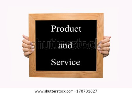 Product and service - stock photo