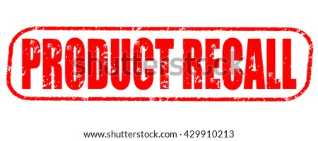 product recall stamp on white background. - stock photo