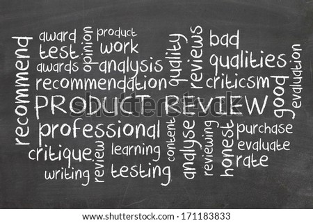 Product Review - stock photo