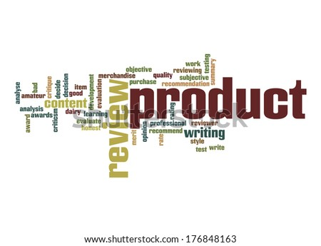 Product review word cloud - stock photo