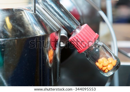 Production of medications - stock photo