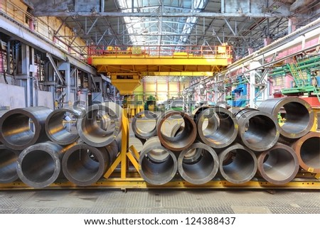 Production of metal titanium - stock photo