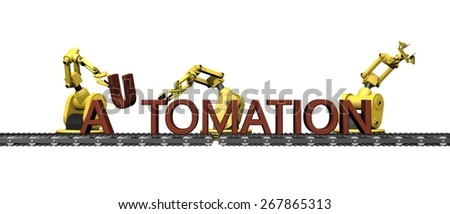 "Production of the word "" AUTOMATION ""  - stock photo"
