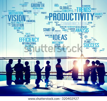Productivity Vision Idea Efficiency Growth Success Solution Concept - stock photo