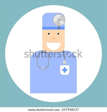Profession.Doctor.Illustration. - stock photo