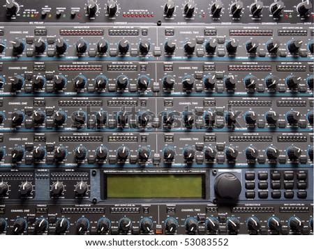 profession sound equipment - stock photo