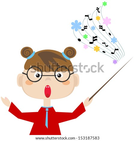 Profession , teacher of the music  - stock photo