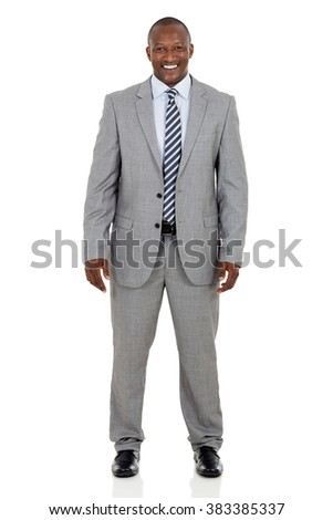 professional african businessman isolated on white background - stock photo