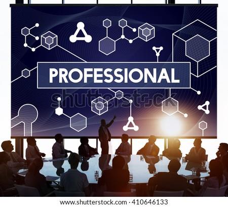 Professional Business Career Executive Boss Concept - stock photo