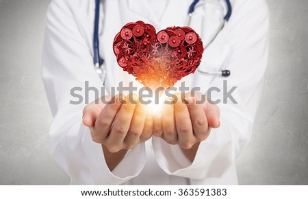 Professional care for your heart - stock photo