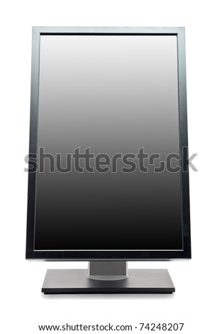 Professional computer monitor isolated on white background - stock photo