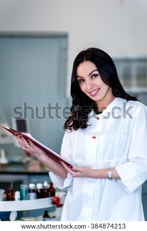 Professional doctor in the dental hospital. There are specialized equipment to treat all types of dental diseases in the office - stock photo